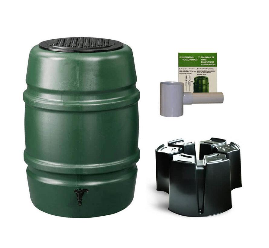 Regentonset Harcostar - 168 Liter Groen + Voet + Vulautomaat