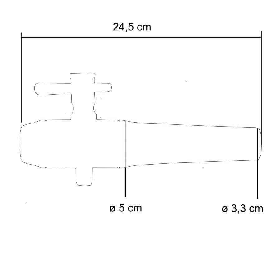Houten Kraan Groot  24 cm - ø 3,3 - 5,0 cm