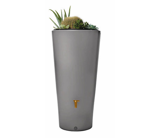 Garantia Regenton Vaso Lichtgrijs - 220 liter - 2 in 1 + Plantenbak & Vulautomaat