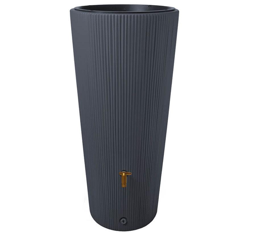 Vaso Decor Antraciet - Regenton - 220 liter + Vulautomaat