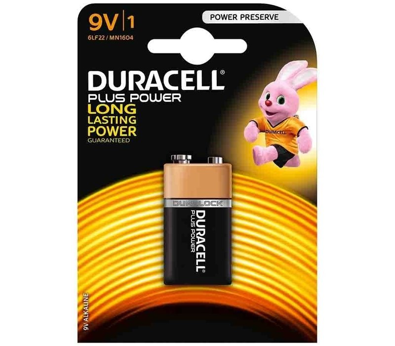 Duracell Alkaline 9V Plus Power Duralock MN1604