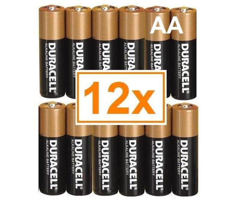 Duracell Alkaline AA Mignon LR6 - 1 Packung (12 Batterien)