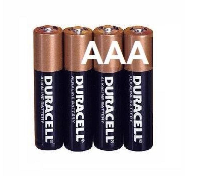 Duracell Alkaline AAA Micro (LR3) - 1 Packung (4 Batterien)