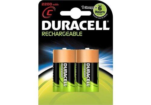 Duracell Duracell C 2200mAh rechargeable (HR14) - 1 Packung (2 Batterien)