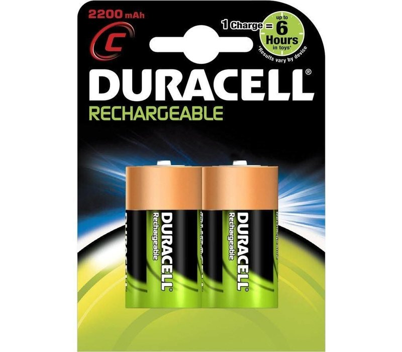 Duracell C 2200mAh rechargeable (HR14) - 1 Packung (2 Batterien)