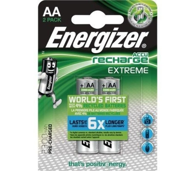 Energizer Recharge Extreme AA 2300mAh (HR6) - 1 Packung (2 Batterien)
