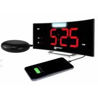 Geemarc Wecker Wake'n'Shake Voyager mit Vibrationspad, LED (Blitz) Lampe und USB-Anschluss