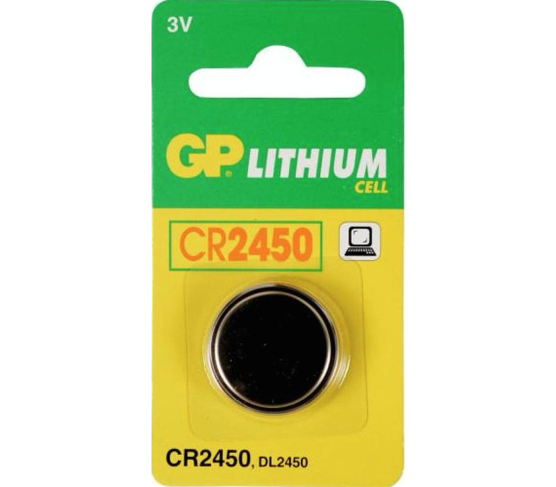 GP Lithium CR2450 3V Blister 1