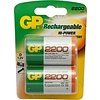 GP GP D 2200mAh rechargeable (HR20) - 1 Packung (2 Batterien)