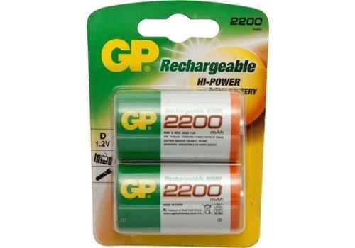 GP GP D 2200mAh rechargeable (HR20) - 1 Packung (2 Batterien)