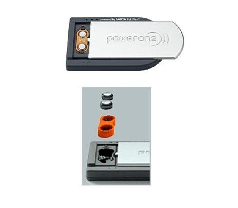 PowerOne pocketcharger Ladegerät für 2 ACCU plus Typ 10, 13 und 312