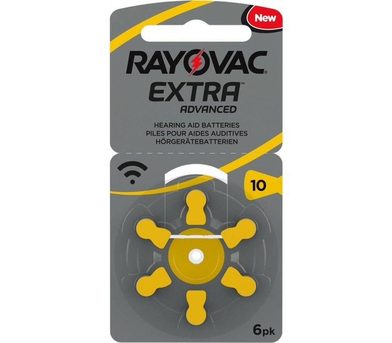 Rayovac 10 (PR70) Extra Advanced - 1 Blisterpackung (6 Batterien)