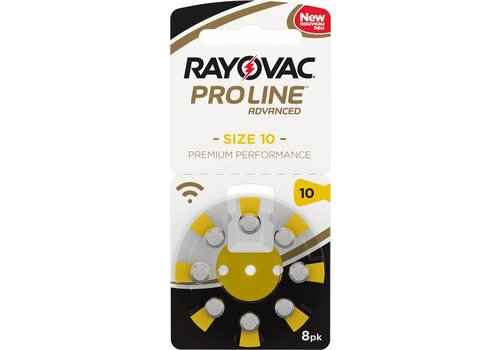 Rayovac Rayovac 10 Proline Advanced Premium Performance (Packung/8) - 10 Päckchen - 80 Batterien