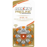 Rayovac 13 Orange (PR48) Proline Advanced Premium Performance (Packung/8) - 10 Päckchen - 80 Batterien