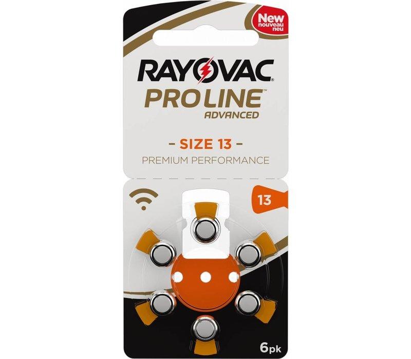 Rayovac 13 Orange (PR48) ProLine Advanced Premium Performance  (Packung/6) - 10 Päckchen (60 Batterien)