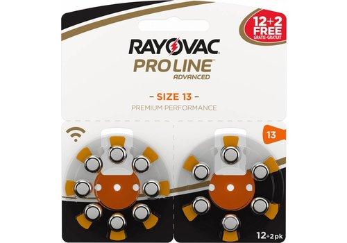 Rayovac Rayovac 13 (PR48) ProLine Advanced Premium Performance  (Packung/14) - 5 Päck. / 70 Batterien (60+10 GRATIS)