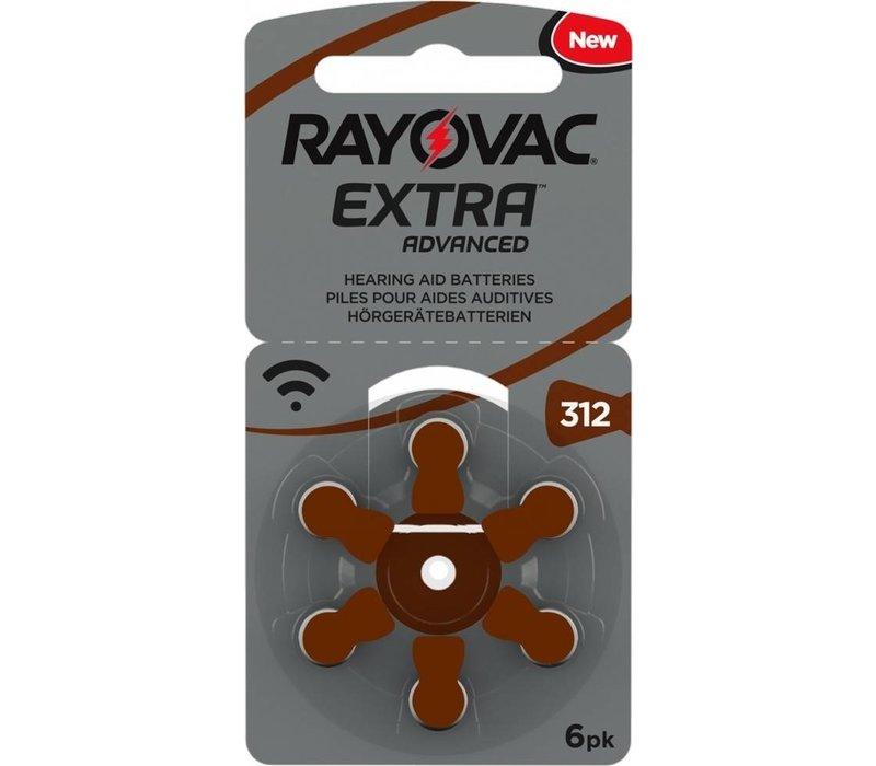 Rayovac 312 (PR41) Extra Advanced  - 1 Päckchen - (6 Batterien)