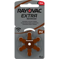 Rayovac 312 (PR41) Extra Advanced  - 10 Päckchen (60 Batterien)