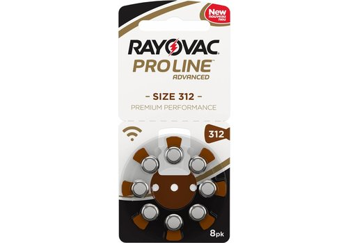 Rayovac Rayovac 312 Braun (PR41) Proline Advanced Premium Performance (Packung/8) - 20 Päckchen / 160 Batterien