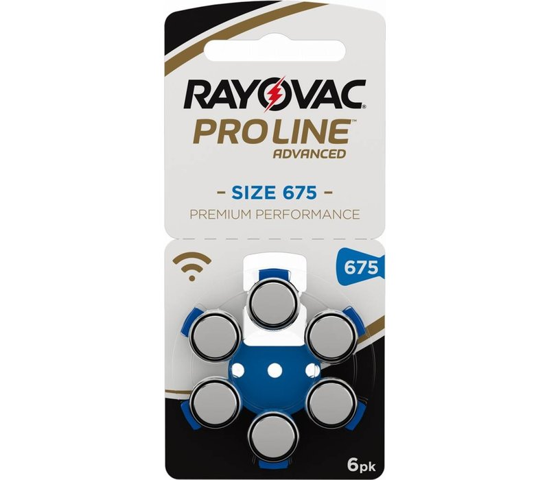 Rayovac 675 ProLine Advanced Premium Performance - 1 Päckchen (6 Batterien)