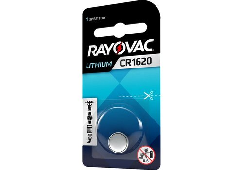 Rayovac Rayovac Lithium CR1620 3V Knopfzelle Blister 1 - 1 Packung