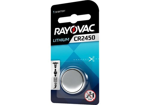Rayovac Rayovac Lithium CR2450 3V Knopfzelle Blister 1 - 1 Packung