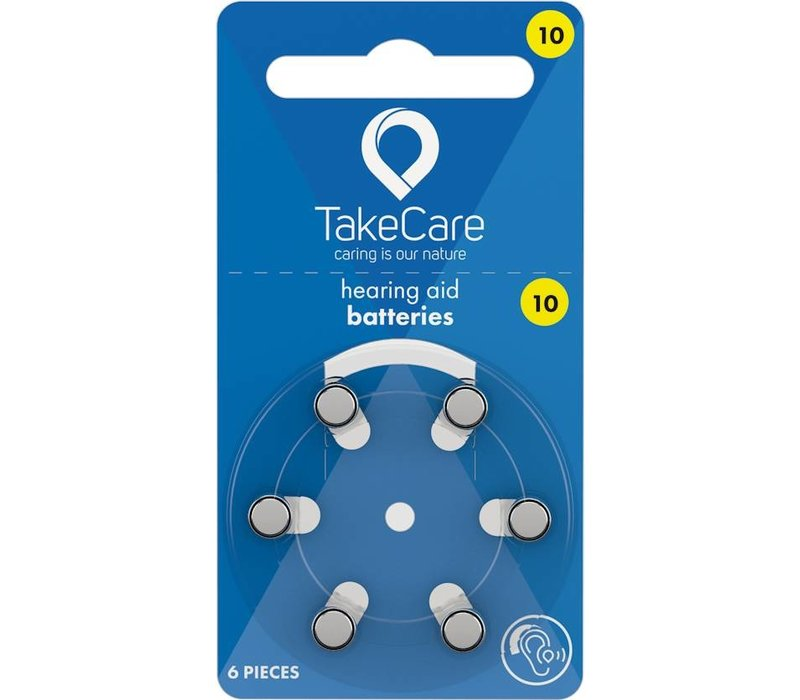 Take Care 10 Gelb (PR70) - 1 Päckchen **SUPER ANGEBOT** (6 Hörbatterien)