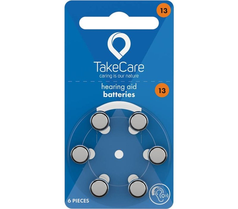 Take Care 13 Orange (PR48)  - 1 Päckchen **SUPER ANGEBOT** (6 Hörbatterien)