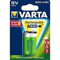 Varta 9V 200mAh rechargeable accu - 1 Packung (1 Batterie)