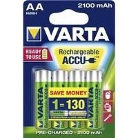 Varta AA 2100mAh rechargeable (HR6) - 1 Packung (4 Batterien)