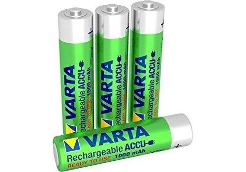 Varta Varta AAA 1000mAh rechargeable (HR03) - 1 Packung (4 Batterien)