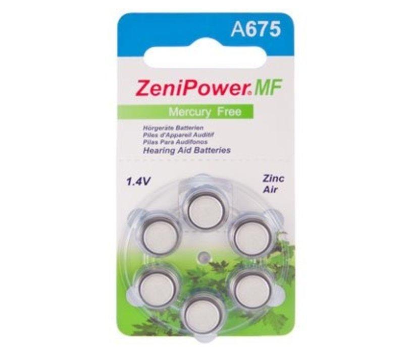 ZeniPower A675 Blau (PR44) - 1 Päckchen (6 Batterien)