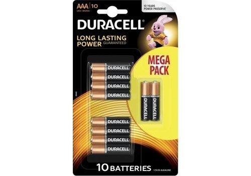 Duracell Duracell Alkaline AAA Micro (LR3) - 1 Packung (10 Batterien)