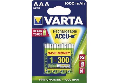 Varta Varta AA 2600mAh rechargeable (HR6) - 1 Packung (4 Batterien)