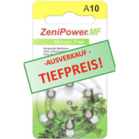ZeniPower A10 Gelb (PR70) - 10 Päckchen (60 Batterien)
