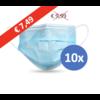 Private Label Mundmaske Typ II, Atemschutzmaske 3-lagig, 10 Stück. Einmalgebrauch mit Ohrringschlaufe.