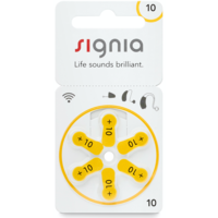 Siemens Signia 10 Gelb (PR70) Hörgerätebatterien - 10 Päckchen (60 Hörbatterien)