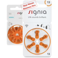 Siemens Signia 13 Orange (PR48) Hörgerätebatterien - 1 Päckchen (6 Hörbatterien)