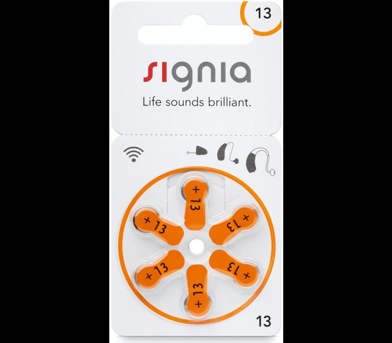 Siemens Signia 13 Orange (PR48) Hörgerätebatterien - 20 Päckchen (120 Hörbatterien)