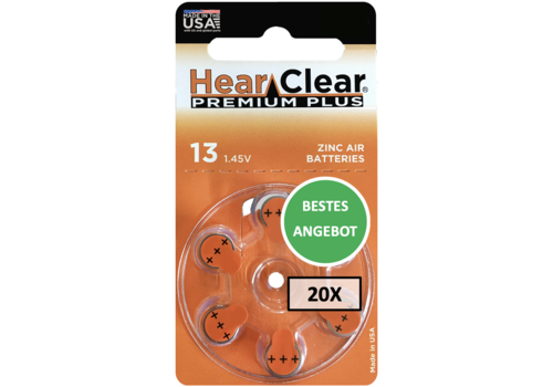 HearClear HearClear 13 Premium Plus - 20 Päckchen