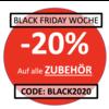 BLACK FRIDAY WOCHE: 20% Rabatt auf alle Zubehör mit dem Code 'BLACK2020'
