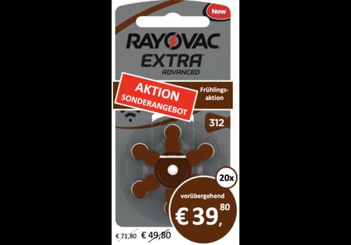 Rayovac Rayovac 312 Extra Advanced (Packung/6)  - 20 Päckchen