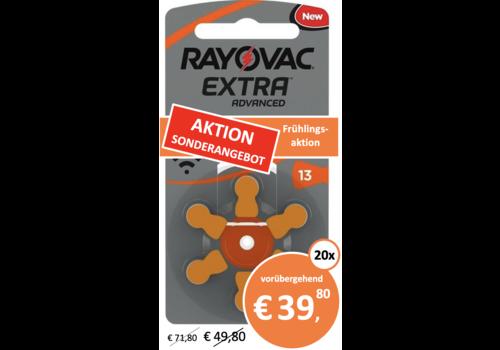 Rayovac Rayovac 13 Extra Advanced (Packung/6) - 20 Päckchen