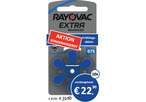 Rayovac Rayovac 675 Extra Advanced - 10 Päckchen
