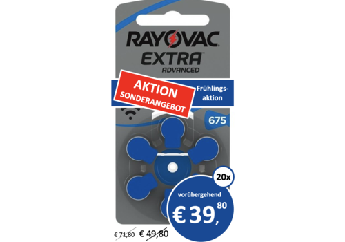 Rayovac Rayovac 675 Extra Advanced - 20 Päckchen