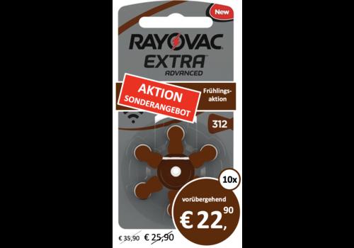 Rayovac Rayovac 312 Extra Advanced (Packung/6)  - 10 Päckchen