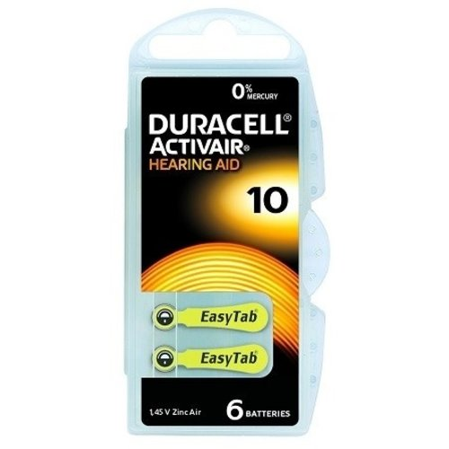 Duracell Duracell 10 Activair EasyTab – 1 pack (6 batteries for hearing aids)