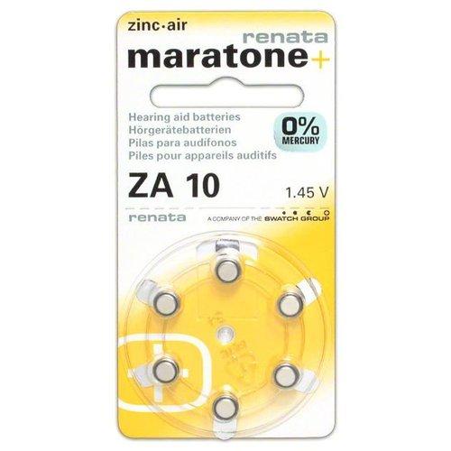 Renata (Swiss) Renata (Maratone+) ZA10 Mercury-Free – 10 packs (Swiss design) **CLEARANCE**