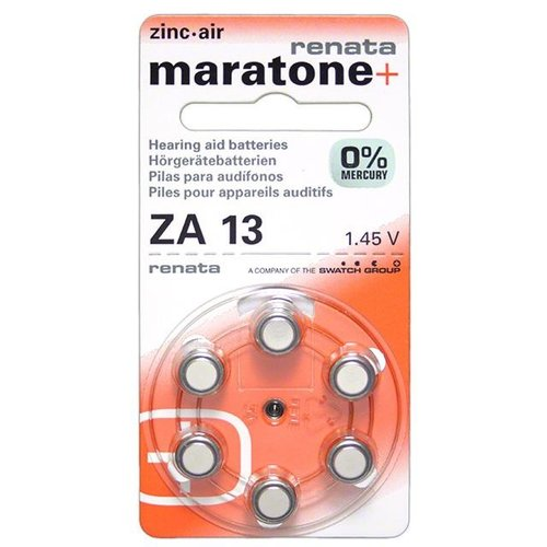 Renata (Swiss) Renata (Maratone+) ZA13 Mercury-Free – 20 packs (Swiss design) **CLEARANCE**