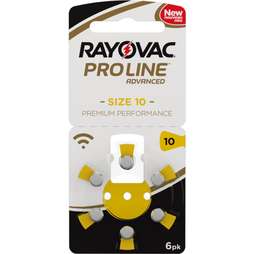 Rayovac Rayovac 10 ProLine Advanced (Premium Performance) Zinc-Air – 10 packs